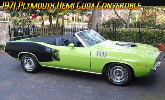 Speeddemons 1971 Plymouth Hemi Cuda Convertible