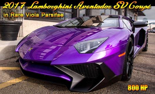 2017 Lamborghini Aventador Sv Coupe In Rare Viola Parsifae