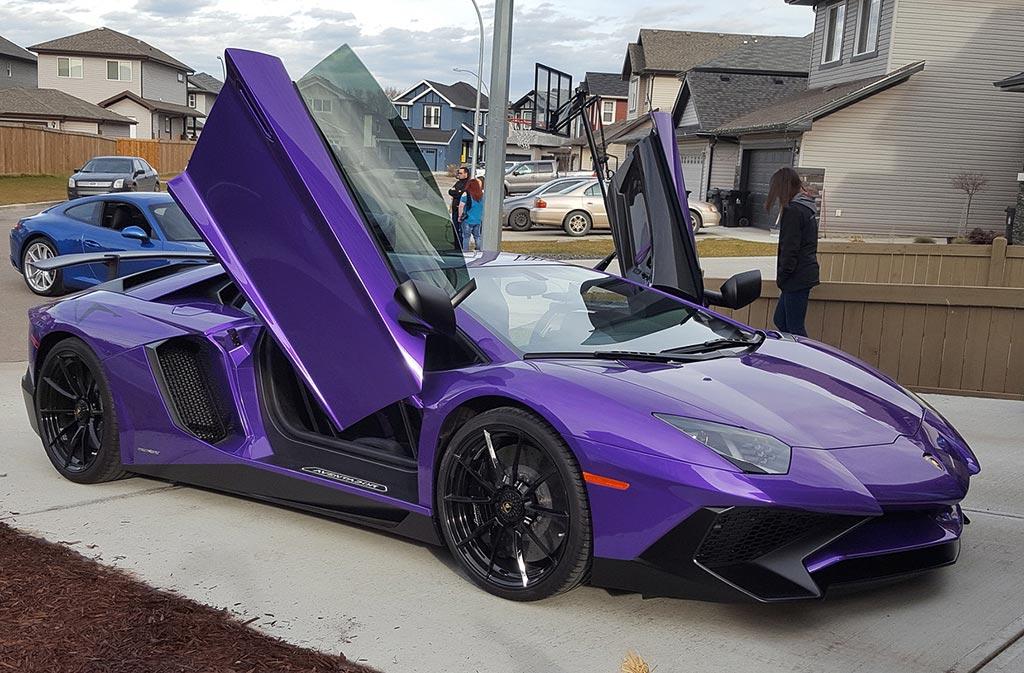 2017 Lamborghini Aventador Sv Coup 233 In Rare Viola Parsifae